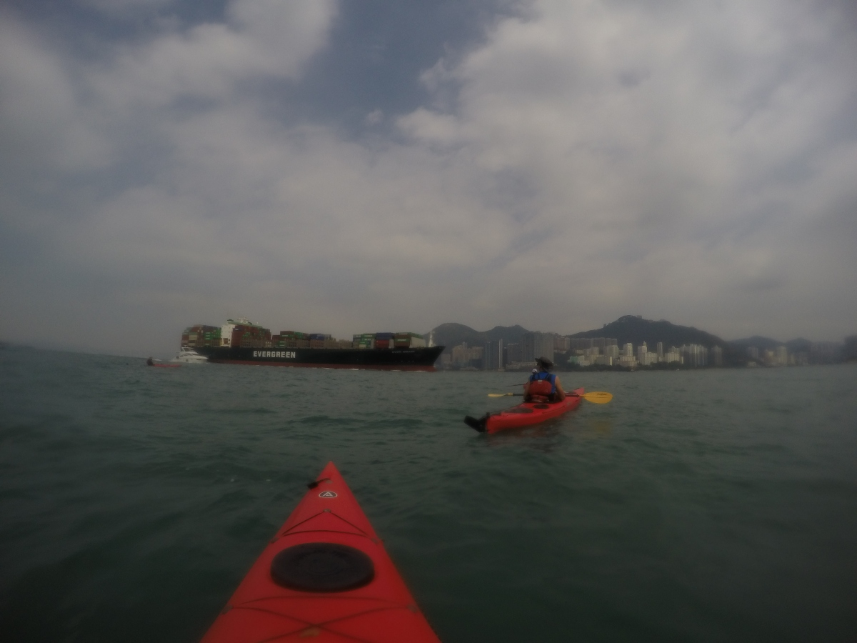 Kayaking One Of The World's Busiest Shipping Lanes
